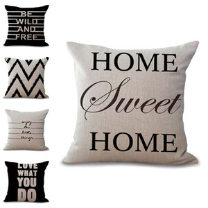 Be Wild and Free Sweet Home Pillow Case Cushion Cover Linen Cotton Throw Pillowcases Home Sofa Decorative Pillowcover Drop Ship 300696