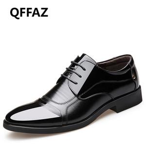 Scarpe da sposa QFFAZ nuovo modo di Oxford vestito dall'uomo pattini di cuoio genuini formale traspirante Lace Up Men For Men Studio