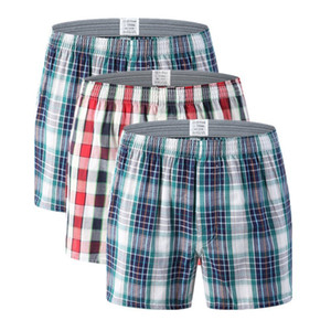 M-6XL Intimo da uomo Boxer Shorts Casual Cotton Sleep Sleeppants Plaid di qualità Allentato confortevole Homewear a strisce Arrow Mutandine