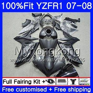 Corps d'injection pour YAMAHA YZF R 1 YZF 1000 YZFR1 07 08 227HM.1 YZF R1 07 08 YZF1000 Stock noir mat YZF-1000 YZF-R1 2007 2008 Carénage Ki