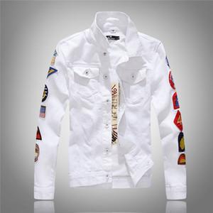 YuWaiJiaRen erkek Denim Ceket Yüksek Kalite Moda Kot Ceketler Rahat Streetwear Vintage Erkek Jean Giyim