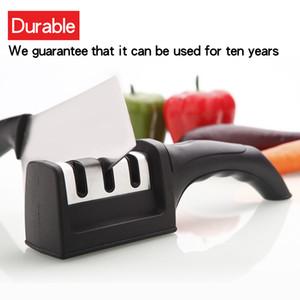 Afilador de cuchillos 3 etapas Profesional Cuchillo de afilar Muela de acero de tungsteno Accesorios de cocina para el hogar Cuchillos herramienta gadgets