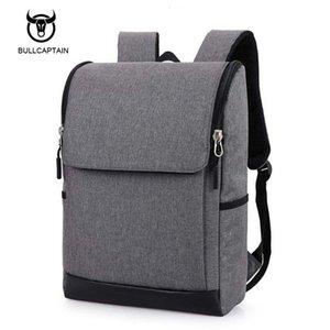 Bullcaptain Business Travel Laptop Men Mochila 15.6 pulgadas Multifuntion Bag School Bags mochilas portátiles de lona a prueba de agua