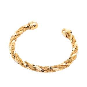 Classic Twist Gold Plated Ethiopian Dubai India African Cuff Bangle Bracelet Jewelry