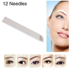 12 개의 Flex Microblade 바늘 Permenent Makeup Pins 12 수동 바늘 펜용 문신 바늘 박판 Agulhas Tebori Blade