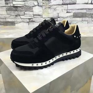 2017 NOUVELLE Haute Qualité Runner Clouté Sneaker Chaussures Femmes, Hommes Rockrunner Femmes, Hommes Parfait Cadeau Formateurs Casual Marche Flats Taille 36-46