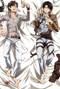 Attack on Titan anime Personaggi mikasa ackerman eren jaeger copri cuscino shingeki no kyojin body Federa levi Dakimakura