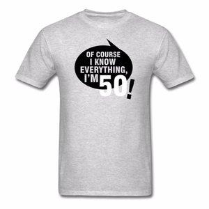 도매 할인 T 셔츠 패션 2018 면화 짧은 소매 티셔츠 Man Man Birthday 50 Year Quotes American T Shirts