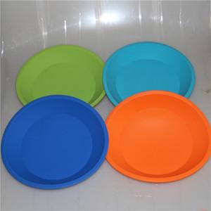 Venda Por Atacado nova bandeja de silicone de forma redonda food grade recipiente de prato de silicone, recipiente de prato profundo de silicone para alimentos / frutas / cera