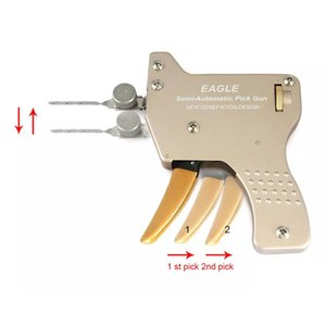 HH EAGLE Semi-Automático Lock Pick Gun + 15 Agulhas - Best Lock Pick Gun para Venda