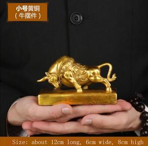 Kuh ornamente messing Bull Statue Große Wall Street Bronze Fierce Bull Skulptur Hause Wohnzimmer Studie Maskottchen Dekoration Accessorie
