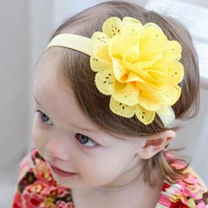 VENDITA CALDA Candy Color Headwrap Baby Fasce Headwear Ragazze Hair Hairband Bronzing Hollow Flower Head Band Neonato neonato 20 pz /