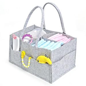 Bébé couches caddie gris couches maternelles poubelle sac de rangement multifonction grand portable voiture organisateur de voyage feutre panier sac