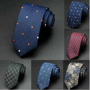 6cm Mens Ties New Man Fashion Dot Neckties Corbatas Gravata Jacquard Slim Tie Business Green Tie For Men