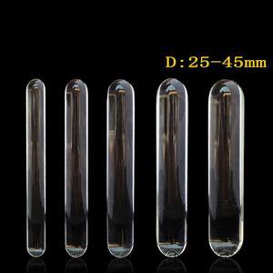 230ミリメートル長い透明ガラスディルド巨大な大きな陰茎二重ディルドアナルプラグアダルトセックスおもちゃの女性レズビアン大型ディルドバットプラグY18110504