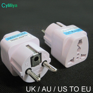 Universal 2 Pin AC Energia Elétrica Adaptador de Tomada Converter Travel Power Carregador Reino Unido / EUA / AU Para EU Plug Adapter Soquete