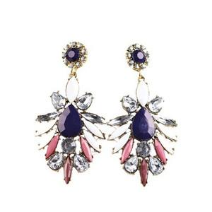 Prodotti competitivi coreani orecchino europeo moda metallo luminoso gioiello temperamento esagerazione chiodo dell'orecchio