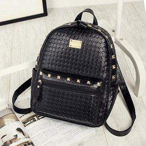Fashion Zipper Backpack 2017 New Korean Shoulder Bag Women's Bag Weaving Ladies Luxury Handbags Women Bags Designer Back Pack