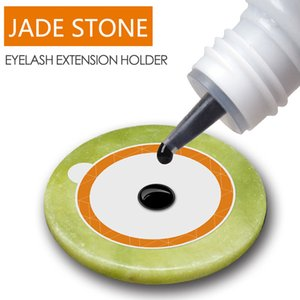 Jade Artificial Jade Stone False Eyelash Extension Glue Adhesive Pad Pallet Round Flat Stone Eyelash Glue Maquillaje Herramientas