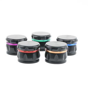 Drum Shape Colorful Aluminum Alloy Diameter 63MM Mini Herb Grinder Spice Miller Crusher High Quality Beautiful Color Unique Design DHL Free