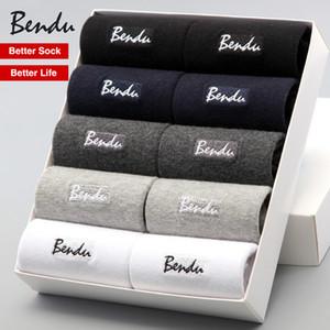 Vente en gros - Chaussettes en coton pour hommes 2017 Garantie garantie aux hommes d'affaires respirant, déodorant confortable et antibactérien (10 paires / lot)