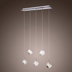 Современный K9 Кристалл LED Подвесной Светильник Лампа с 5 Огней Для Столовая Lustres e Pendentes Lustre De Cristal