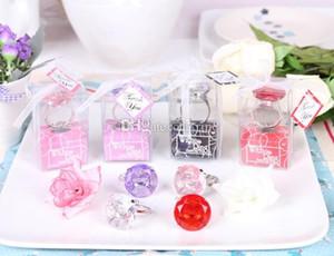 عرس الماس خاتم الخطوبة خطوبة تفضل زينة الزفاف مفتاح سلسلة الجدة العملاقة الماس والمجوهرات هدية مربع التعبئة