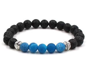 New Yoga Lava Rock Bracelets Turquoise Weathering Agate Gold Plated Bangles For Women & Men Gift