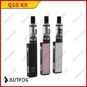 Original Justfog Q16 Starter Kit 900mAh Batería E Cigarrillo Vape Pen con Auténtico atomizador 2ml 1.6ohm OCC Bobina 100% genuino