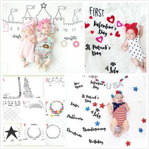13Styles Bébé Photographie Fond Serviette Serviette En Coton Chaud Couverture De Bébé Infantile Berceaux Couvertures Décors De Pâques Tissu Enfants Cadeaux D'anniversaire