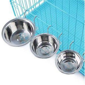 Ciotola per alimenti in acciaio inox Ciotola per alimenti Ciotola per animali Cani per cani Cani per cani Ciotole per cani Alimentatori Forniture per cani