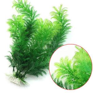 Aquarium Dekoration Grün Künstliche Kunststoff Pflanze Gras Ornament Dekor Zubehör Unterwasserfische Aquarium Landschaft Dekorative Pflanzen