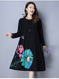 Long Sleeve Maternity Dress Loose Large Size Clothes For Pregnant Women Dresses Casual O-neck Pregnancy Dress Autumn New