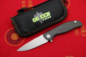 épine vert HATI 95 Flipper Couteau pliant D2 roulement en acier titane CF chasse poignée de camping 3D fruits extérieure couteaux outils EDC