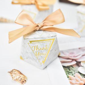 Europäische Diamantform Grün lässt Waldart Süßigkeit-Kästen, die Bevorzugungen Bomboniere Wedding sind, danke Geschenkbox-Partei-Schokoladenbox