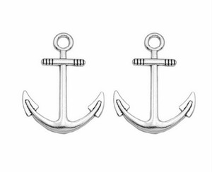 100 teile / los Alte Silber-legierung Anchor Charms Anhänger Für diy Schmuckherstellung ergebnisse 32x24mm