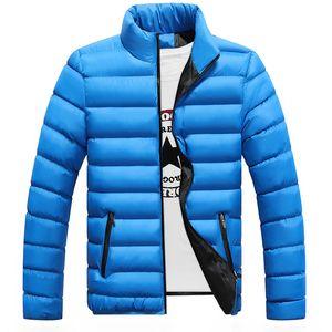 Marca de algodón Chaqueta de invierno para hombre Casual Venta caliente de alta calidad Soild Color Chaquetas y abrigos para hombre Parka gruesa Outwear masculino 4xl