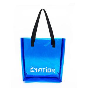 Bolso de tote de color claro PVC Vinyl Beach Bolso Bolso promocional disponible para personalizado