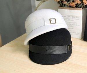 Luce di lusso panno di lana francese cappello equestre: semplice cappello di lana australiana britannico, l'autunno e l'inverno il cappello cavaliere alla moda