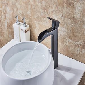 ORB Bitmiş Şelale Pirinç Havzası Musluk Evye Mikser Musluklar Sıcak ve Soğuk Su Dokunun Tek Kolu Faucet-10333