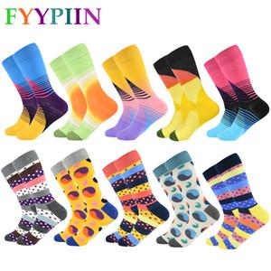 FYYPIIN 10 paia / lotto Ultimi uomini di design di colore calze da combattimento Fun Abbigliamento Casual Crew Socks Moda Mens
