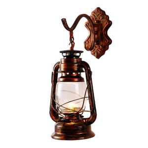 Керосиновый настенный светильник, старинные металлические стеклянные настенные бра светильники для гостиной, столовой, кафе-бара, декора прихожей настенного освещения