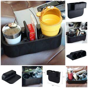 3 IN1 Evrensel Siyah Kupası Sahipleri Araba Saklama Kutusu Içme Şişe Telefonu Can Kupa Montaj Standı Rafları WX9-307