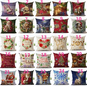 Praça Feliz Natal Papai Noel Cão Carta Capa de Almofada Ambiente Praça Decorativa Throw Pillow Case Sofa Home Decor almofadas
