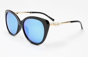 2018 جديد لؤلؤة كبيرة إطار نظارات شمسية C 2039 العلامة التجارية مصمم الأزياء الفاخرة النساء نظارات الشمس القيادة النظارات عالية الجودة المرأة