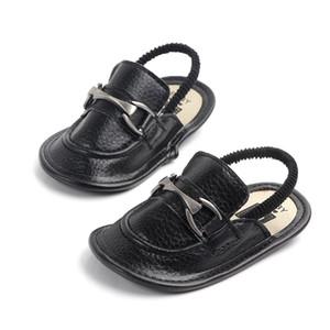 Детские мокасины летние Мальчики Сандалии тапочка PU кожа Младенческая сандалии мягкой подошвой против скольжения Детская обувь