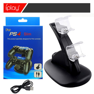 Iplay Double Gamepad Charging Dock Game Controller Charger مزدوج USB Charge Dock Stand لسوني Playstation 4 PS4 Controller