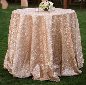 gold silver sequin table cloth for wed birthday party banquet reception desk round table cloth