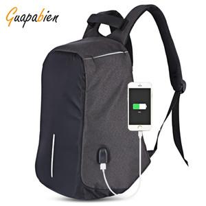 Zaino Interface Guapabien multifunzione sacchetto esterno portatile da viaggio USB per ricarica Uomini Port borse a spalla grande capacità Uomini Donne