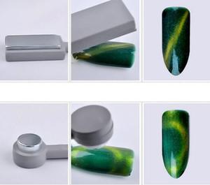 Neue Beauty Dual End Austauschbare Nail art Magnet Stick Cat Eye Gelpoliermittel Lack 3D Streifen Wirkung Shaping Starke DIY Magnettafel
